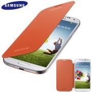 Capa Flip Cover Galaxy S4 - Original Samsung - Cor Laranja