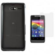 Kit Capa de TPU Premium + Pel�cula Transparente para Motorola Razr D1 - Cor Grafite