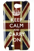 Capa personalizada Keep Calm and Carry Inglaterra para Samsung Galaxy Note 2 GT-N7100