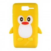 Capa Silicone Pinguim para Motorola Razr D1 XT916 / XT918 - Cor Amarela