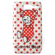 Capa Personalizada  Control Bear Bolinhas Vermelhas  para Motorola Razr D1 XT916 / XT918