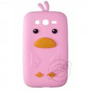 Capa Desenho Animado Pintinho para Samsung Galaxy Grand Duos I9082 - Cor Rosa