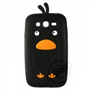 Capa Desenho Animado Pintinho para Samsung Galaxy Grand Duos I9082 - Cor Preto