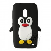 Capa Desenho Animado Pinguim Nokia Lumia 620 - Cor Preto