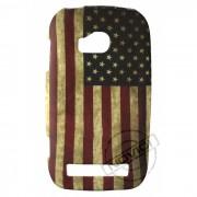 Capa Personalizada Bandeira Envelhecida USA para Nokia Lumia 710