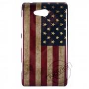 Capa Personalizada Bandeira Envelhecida USA para Nokia Lumia 820
