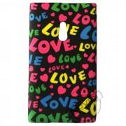 Capa Personalizada Love Fundo Preto para Nokia Lumia 800