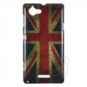 Capa Personalizada Bandeira da Inglaterra Envelhecida para Sony Xperia L