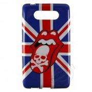 Capa Personalizada Rolling Stones Caveira para Nokia Lumia 820