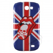 Capa Personalizada Bandeira UK Rolling Stones com Caveira para Galaxy Express I8730