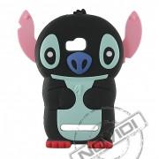 Capa Desenho Animado Stitch 3D para Nokia Lumia 710 - Cor Preto