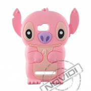 Capa Desenho Animado Stitch 3D para Nokia Lumia 710 - Cor Rosa #sohoje