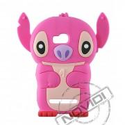 Capa Desenho Animado Stitch 3D para Nokia Lumia 710 - Cor Pink
