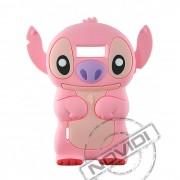 Capa Desenho Animado Stitch 3D para LG Optimus L7 - Cor Rosa