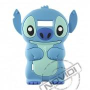Capa Desenho Animado Stitch 3D para LG Optimus L7 - Cor Azul Claro