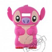 Capa Desenho Animado Stitch 3D para LG Optimus L7 - Cor Rosa Pink