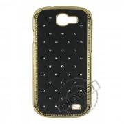 Capa Policarbonato com Strass para Samsung Galaxy Express I8730 - Cor Preto