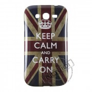 Capa Personalizada Keep Calm And Carry On para Samsung Galaxy Grand Duos I9082