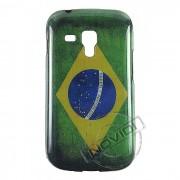 Capa Personalizada Bandeira do Brasil para Samsung Galaxy S Duos S7562