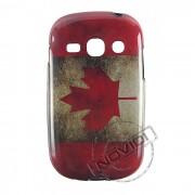 Capa Personalizada Bandeira Envelhecida Canadá para Galaxy Fame