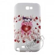 Capa Personalizada Ilustração Coração e Borboleta para Samsung Galaxy Note 2 GT-N7100