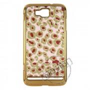 Capa Luxo Fashion Oncinha para Samsung Ativ S I8750 - Cor Rosa, Vermelha e Dourada