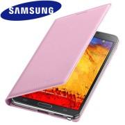 Capa flip Wallet para Samsung Galaxy Note 3 N9005 - Samsung EF-WN900B - Cor Rosa