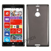 Kit Capa de TPU Premium + Película Pro Fosca para Nokia Lumia 1520 - Cor Grafite