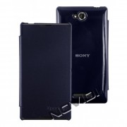 Capa Flip Cover para Sony Xperia C – Cor Azul Marinho