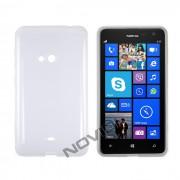 Kit Capa de TPU Premium + Película Pro Fosca para Nokia Lumia 625 - Cor Transparente