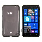 Kit Capa de TPU Premium + Película Transparente para Nokia Lumia 625 - Cor Grafite