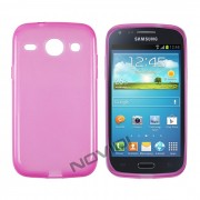 Kit Capa de TPU Premium + Pel�cula Transparente para Samsung Galaxy S3 Duos I8262 - Cor Rosa
