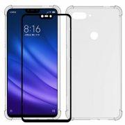 Capa Fusion Shell + Película Vidro Bordas 3d Xiaomi MI 8 Lite