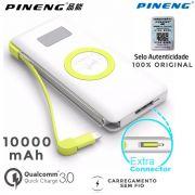 Carregador Wireless Sem Fio Bateria Power Bank 10000mah 3.0 - Original