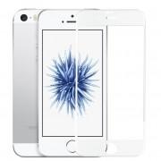 Película de vidro Premium com bordas 3D para iPhone SE/5s/5c/5 - Bordas Brancas