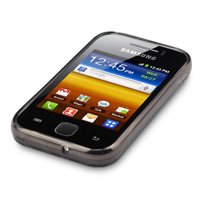 Capa TPU Premium + Película protetora para Samsung Galaxy Y GT-S5360 - Cor Preta - novidi.com.br