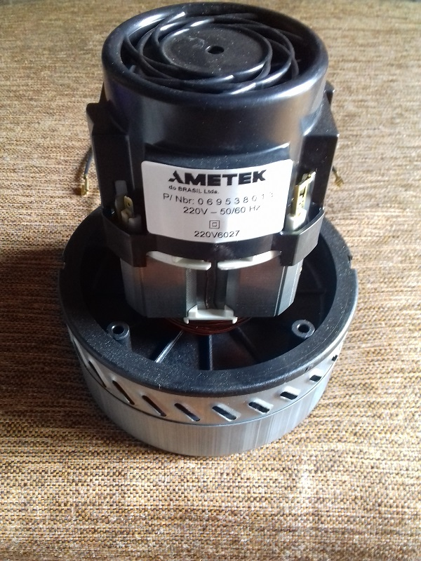 MOTOR TURBINA DUPLA AMETEK PARA WAP CARPET CLEANER / TURBO 1600 / TURBO 2002 / CLEANFIX HOME CLEANER  - Tempo de Casa