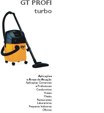 WAP ASPIRADOR PROFISSIONAL GT PROFI TURBO 1600 WATTS - USADO  - Tempo de Casa