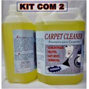 Shampoo Especial P/Lavagem De Estofados E Carpetes-Kit C/2 Galões de 5 Litros -