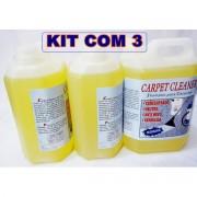 Shampoo Especial P/Lavagem De Estofados E Carpetes-Kit C/3