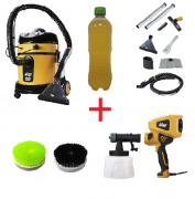 Combo: Lavadora Extratora WAP Home Cleaner + Pistola de Pintura + Escovas de Nylon + Shampoo