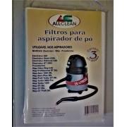 WAP ASPIRADOR ELECTROLUX 20L/25L - KIT 1 PACOTE COM 3 FILTROS