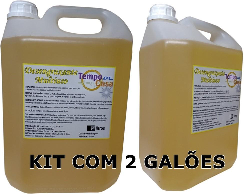 TEMPO DE CASA DESENGRAXANTE MULTI-USO - YELLOW CLEAN KIT C/2 GALÕES DE 5 LITROS CADA  - Tempo de Casa