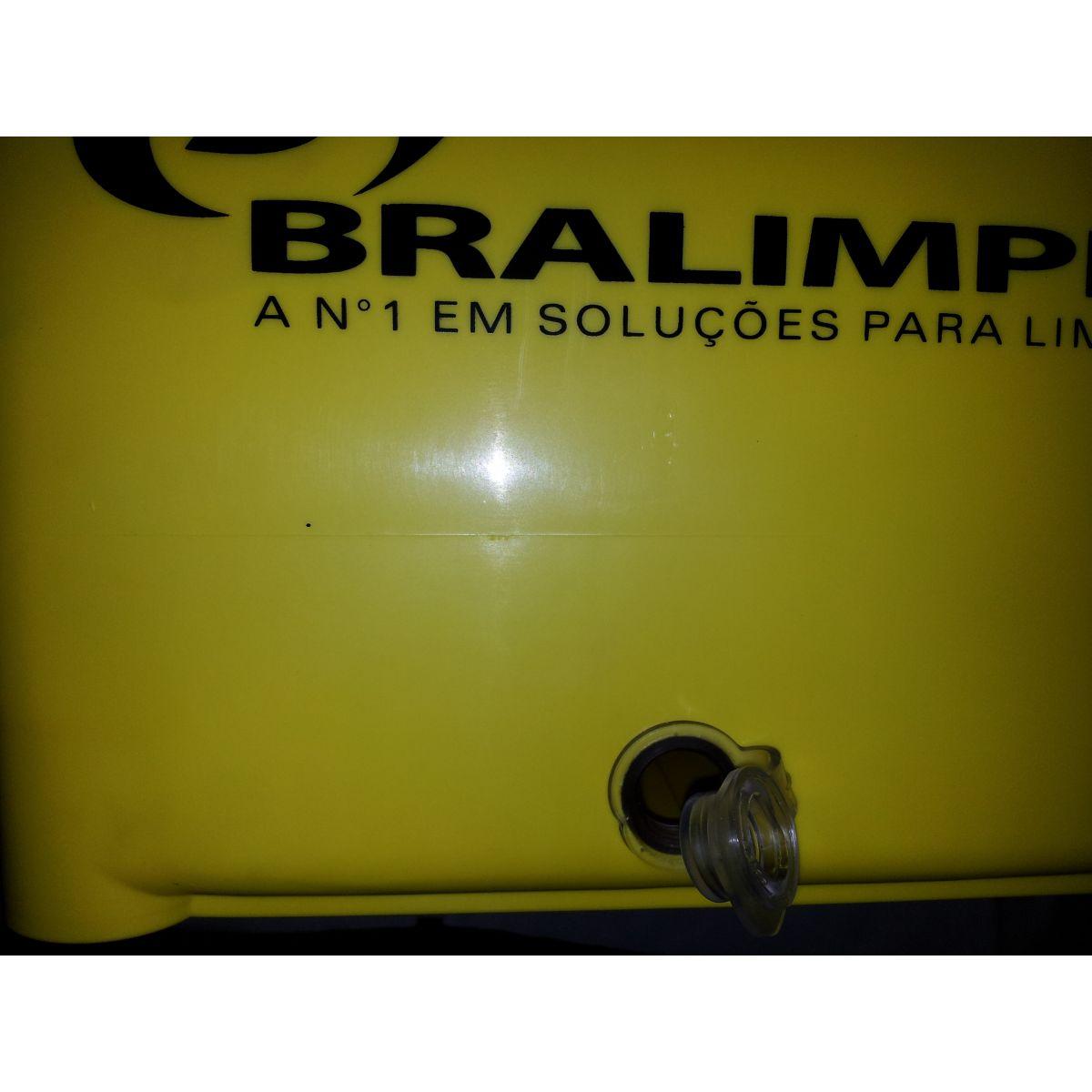 BALDE ESPREMEDOR DOBLO AMARELO BRALIMPIA  - USAR Super Ofertas