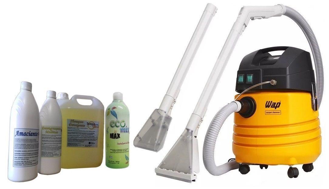 COMBO KIT PROFISSIONAL - WAP CARPET CLEANER E KIT LIMPEZA  - Tempo de Casa