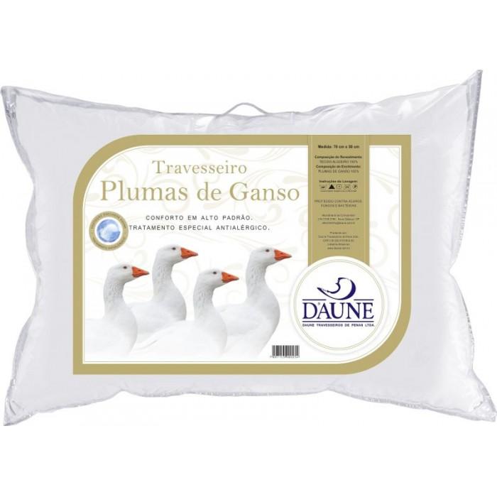 Travesseiro Tamanho Padrão Full 100% Plumas de Ganso