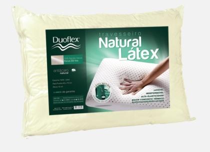 Travesseiro de Látex 200 fios Duoflex 100% Látex