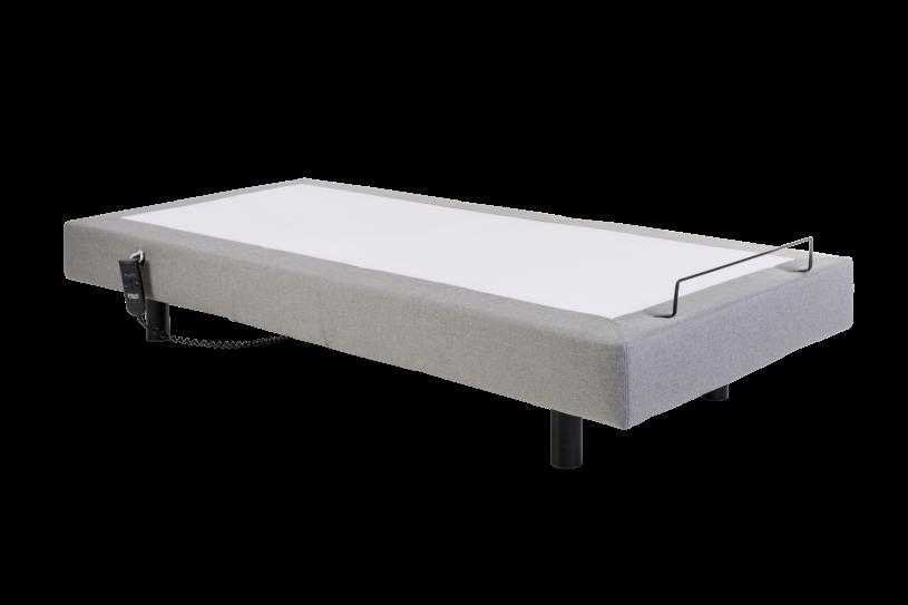 Base Pilati Adjustable Linho Cinza 0,89x1,98x0,39 cm