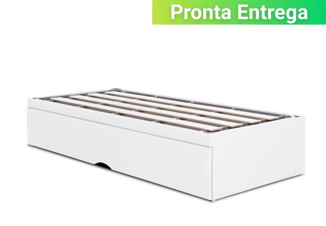 Box Bicama Flat Pilati Com Ripas rigidas Vira Casal (Sem Colchão) 0,96x2,03 Solteiro Americano