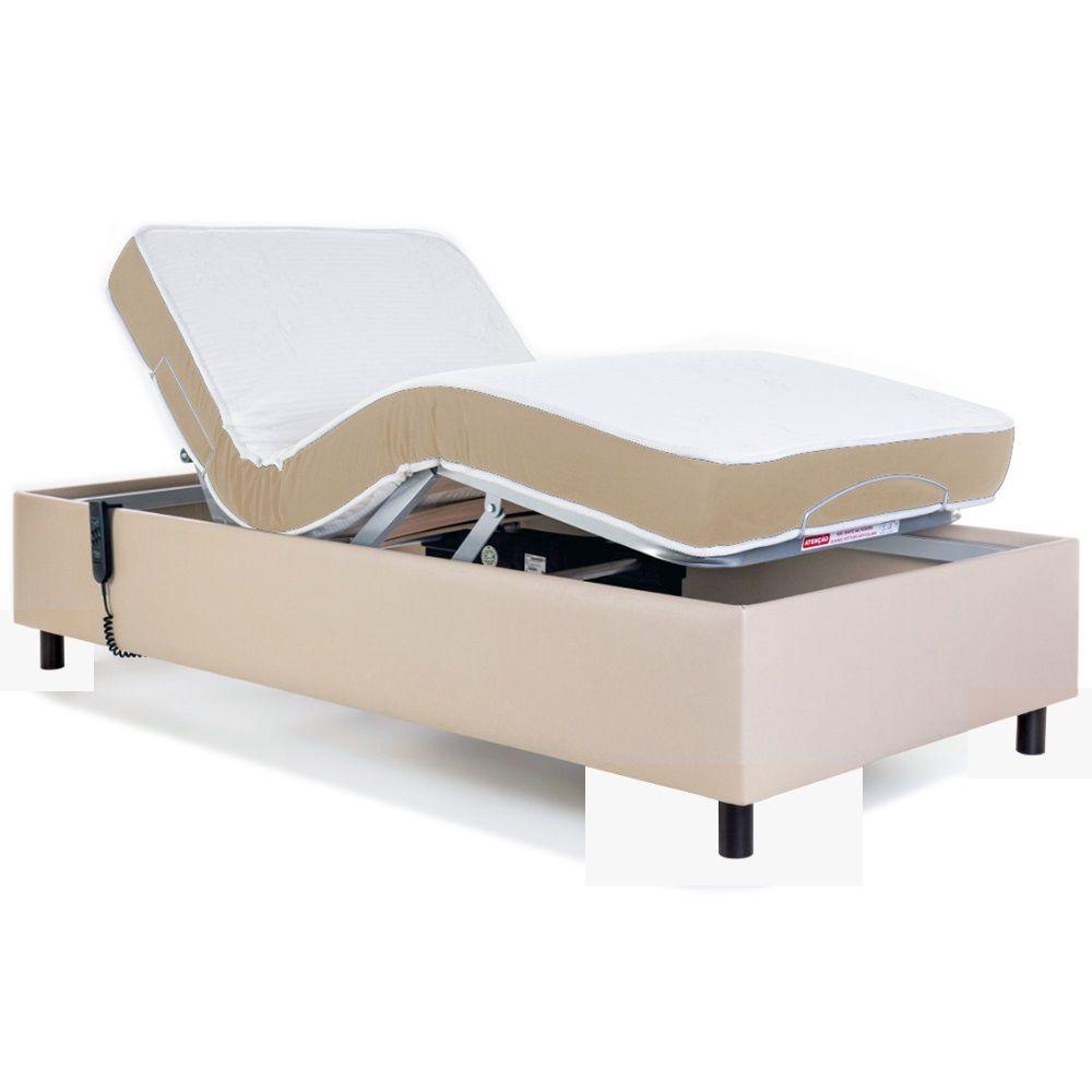 Cama Box Ajustável Zeus Pilati Medical Com Colchão Duetto Firm 0,90x2,00 Cm